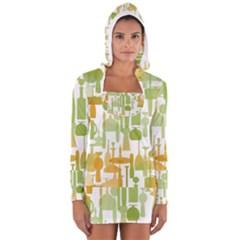 Angerine Blenko Glass Women s Long Sleeve Hooded T-shirt