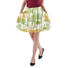 Angerine Blenko Glass A Line Pocket Skirt