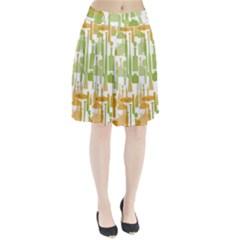 Angerine Blenko Glass Pleated Skirt