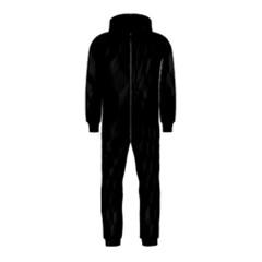 Pattern Dark Texture Background Hooded Jumpsuit (Kids)