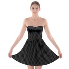 Pattern Dark Texture Background Strapless Bra Top Dress