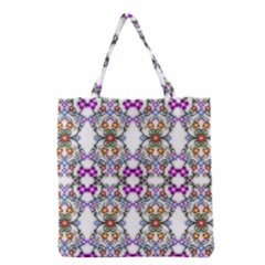 Floral Ornament Baby Girl Design Grocery Tote Bag