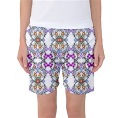 Floral Ornament Baby Girl Design Women s Basketball Shorts