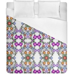 Floral Ornament Baby Girl Design Duvet Cover (california King Size)