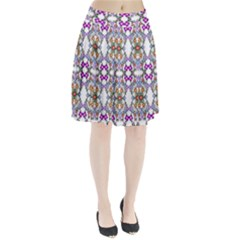 Floral Ornament Baby Girl Design Pleated Skirt