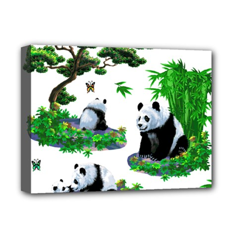 Cute Panda Cartoon Deluxe Canvas 16  x 12
