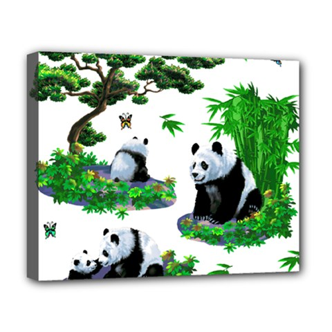 Cute Panda Cartoon Deluxe Canvas 20  x 16
