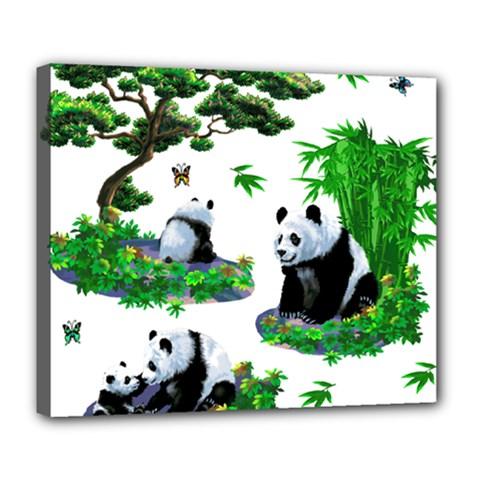Cute Panda Cartoon Deluxe Canvas 24  x 20