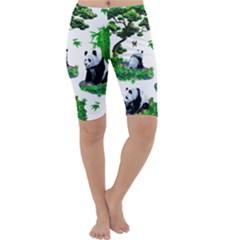 Cute Panda Cartoon Cropped Leggings
