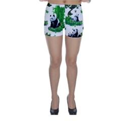 Cute Panda Cartoon Skinny Shorts