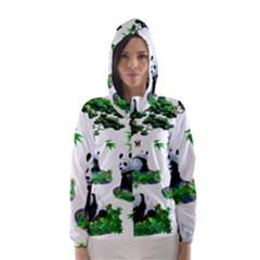 Cute Panda Cartoon Hooded Wind Breaker (women)