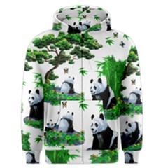 Cute Panda Cartoon Men s Zipper Hoodie