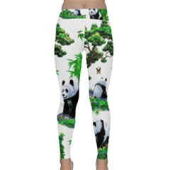 Cute Panda Cartoon Classic Yoga Leggings