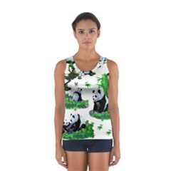 Cute Panda Cartoon Women s Sport Tank Top