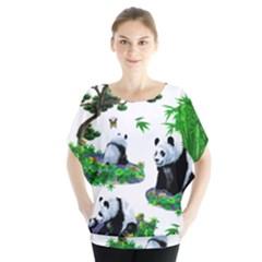 Cute Panda Cartoon Blouse
