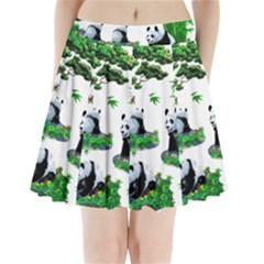 Cute Panda Cartoon Pleated Mini Skirt
