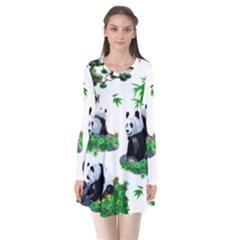 Cute Panda Cartoon Flare Dress