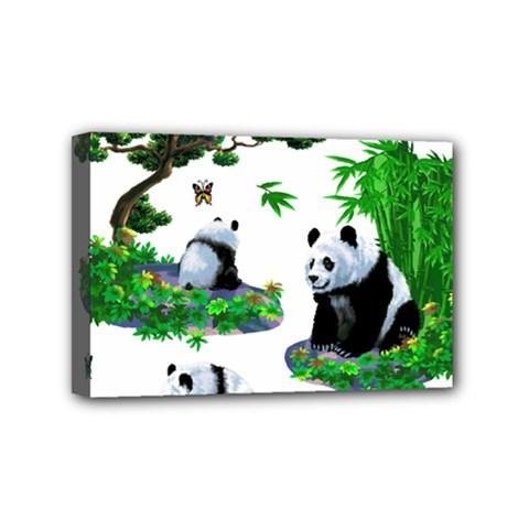 Cute Panda Cartoon Mini Canvas 6  x 4