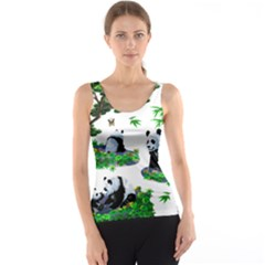 Cute Panda Cartoon Tank Top