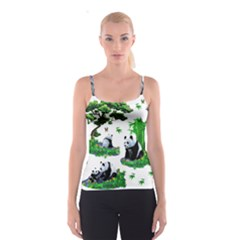 Cute Panda Cartoon Spaghetti Strap Top