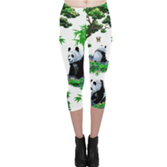 Cute Panda Cartoon Capri Leggings