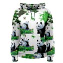 Cute Panda Cartoon Women s Pullover Hoodie View1