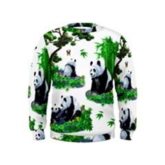 Cute Panda Cartoon Kids  Sweatshirt