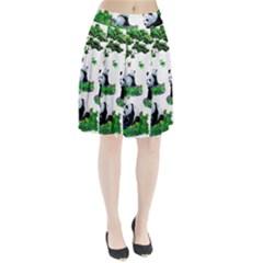 Cute Panda Cartoon Pleated Skirt