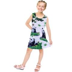 Cute Panda Cartoon Kids  Tunic Dress