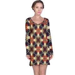 Kaleidoscope Image Background Long Sleeve Nightdress