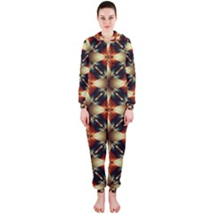 Kaleidoscope Image Background Hooded Jumpsuit (ladies)