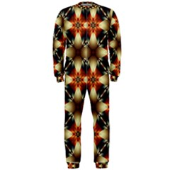 Kaleidoscope Image Background OnePiece Jumpsuit (Men)