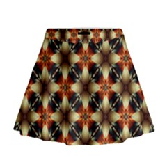 Kaleidoscope Image Background Mini Flare Skirt
