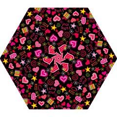 Love Hearts Sweet Vector Mini Folding Umbrellas