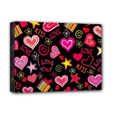 Love Hearts Sweet Vector Deluxe Canvas 16  x 12