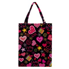 Love Hearts Sweet Vector Classic Tote Bag