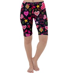 Love Hearts Sweet Vector Cropped Leggings