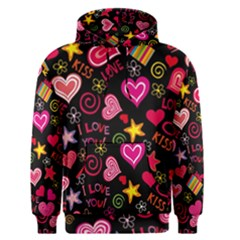 Love Hearts Sweet Vector Men s Pullover Hoodie