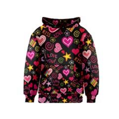 Love Hearts Sweet Vector Kids  Pullover Hoodie
