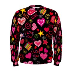 Love Hearts Sweet Vector Men s Sweatshirt