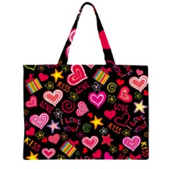 Love Hearts Sweet Vector Large Tote Bag