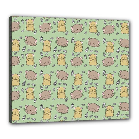 Cute Hamster Pattern Canvas 24  X 20