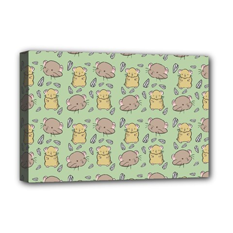 Cute Hamster Pattern Deluxe Canvas 18  x 12