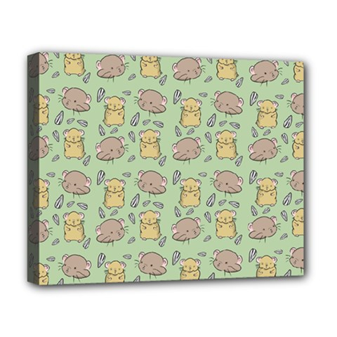 Cute Hamster Pattern Deluxe Canvas 20  x 16