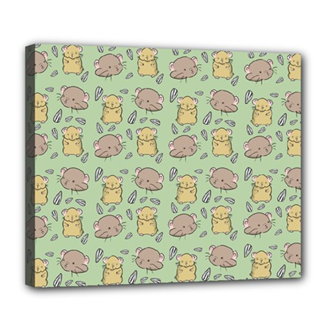 Cute Hamster Pattern Deluxe Canvas 24  x 20