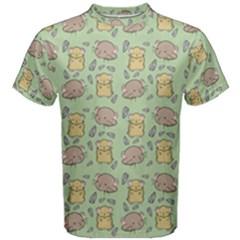 Cute Hamster Pattern Men s Cotton Tee