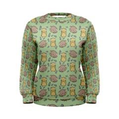 Cute Hamster Pattern Women s Sweatshirt