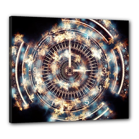 Science Fiction Background Fantasy Canvas 24  x 20