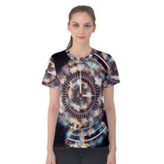 Science Fiction Background Fantasy Women s Cotton Tee