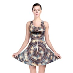 Science Fiction Background Fantasy Reversible Skater Dress